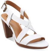 Clarks Jaelyn Fog Leather Sandals - Wide Width