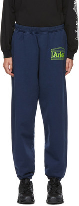 Aries Navy Logo Premium Lounge Pants