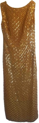 Non Signé / Unsigned Non Signe / Unsigned Gold Dress for Women