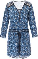 Veronica Beard Venice V-Neck Tie Waist Dress