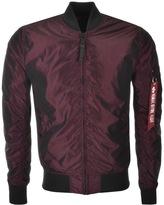 Alpha Industries MA 1 LW Iridium Jacket Burgundy