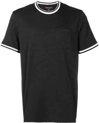 Michael Kors striped trim T-shirt