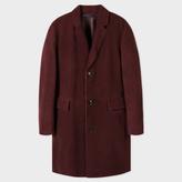 Paul Smith Men's Burgundy Shearling-Sheepskin Coat