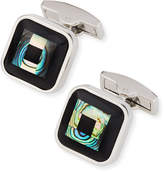 Bugatchi Black-Glass & Mother-Of-Pearl Cuff Links