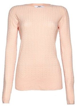 Dorothy Perkins Womens **Dp Tall Pink Cable Crew Neck Jumper, Pink