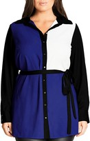 City Chic Color Play Shirt