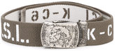 Diesel logo print belt - kids - Polyester/Spandex/Elastane/rubber - 58 cm