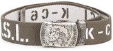 Diesel logo print belt