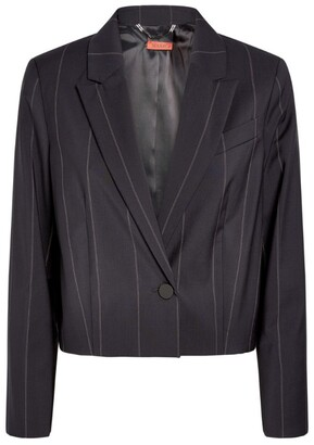 Max & Co. Cropped Pinstripe Blazer