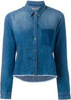 Calvin Klein Jeans raw hem denim shirt