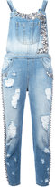 Amen embellished denim jumpsuit - women - Cotton/glass/metal/Polyester - 38