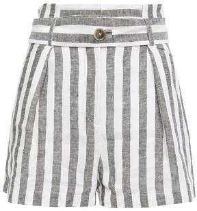 IRO Lular Striped Linen Shorts