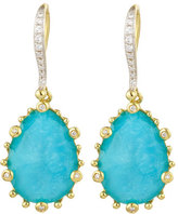 Frederic Sage Tivoli Turquoise & Diamond Earrings
