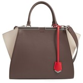 Fendi 3Jours Colorblock Calfskin Leather Shopper - Brown