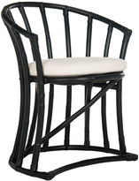 Safavieh Oskar Rattan Accent Chair, Black