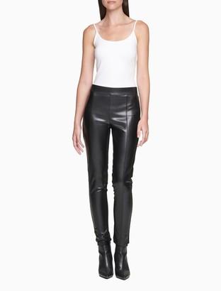 Calvin Klein Faux Leather Zip Leggings