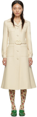 Gucci Off-White Wool Coat