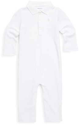Ralph Lauren Baby Girl's Cotton Polo Coverall