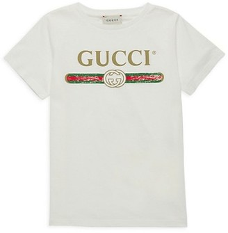 Gucci Little Kid's & Kid's Cotton Logo T-Shirt