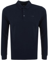 Giorgio Armani Jeans Long Sleeved Polo T Shirt Navy