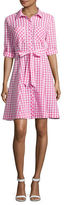 Imnyc Isaac Mizrahi Button-Down Gingham Shirt Dress