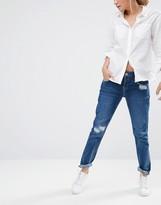 Oasis Distressed Boyfriend Jeans