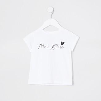River Island Mini girls White 'Mini diva' t-shirt