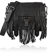 Proenza Schouler The Ps1 Small Fringed Leather Shoulder Bag - Black
