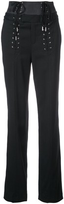 Fleur Du Mal Corset lace-up trousers