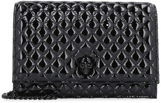 Alexander McQueen Skull Quilted Fabric Mini Crossbody Bag