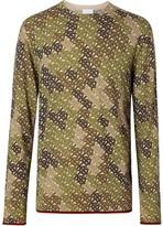 Burberry Monogram Print Merino Wool Sweater