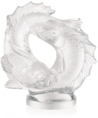Lalique Double Fish Sculpture
