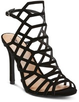 Mossimo Women's Kylea Wide Width Caged Heel Gladiator Pumps with Straps Black