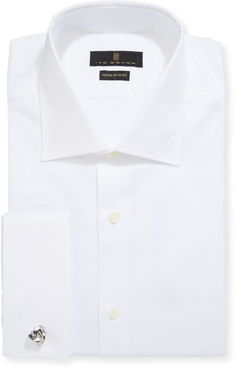 Ike Behar Men's Marcus Twill French-Cuff Dress Shirt, White