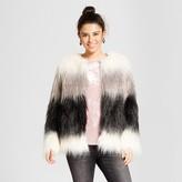 Xhilaration Women's Faux Fur Jacket Navy