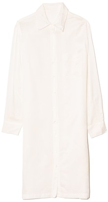 Raquel Allegra Classic Shirt Dress in White