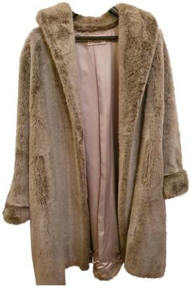 Cyrillus Silver Faux fur Coat for Women Vintage