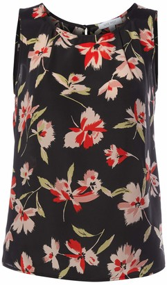 Nine West Women's Sleeveless U-Neck Floral Printed Blouse