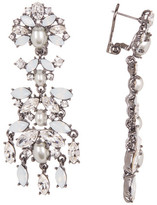 Marchesa Simulated Pearl & Crystal Drop Earrings