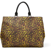 Vivienne Westwood Anglomania Leopard Shopper 190037 Yellow
