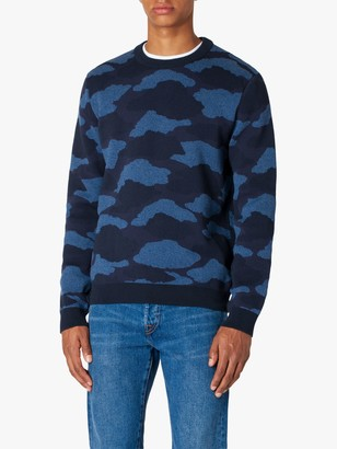 Paul Smith Camo Print Pullover Jumper, Navy