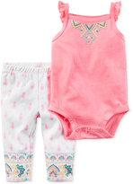 Carter's 2-Pc. Flutter-Sleeve Bodysuit & Leggings Set, Baby Girls (0-24 months)