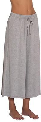 Eberjey Darby Cropped Wide Leg Pants (Heather Grey) Women's Pajama