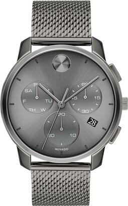 Movado Bold Chronograph Mesh Strap Watch, 42mm