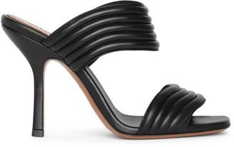 Alaia Black leather mule sandals
