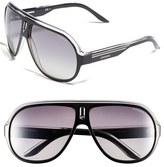 Carrera Men's Eyewear 'Speedway' Aviator Sunglasses - Black/ Silver