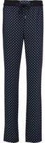 Mira Mikati Printed Satin Straight-Leg Pants