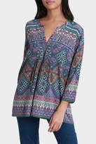 Jump Printed Aztec Pintuck Shirt