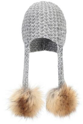 Woolrich Kids Fur-trimmed beanie