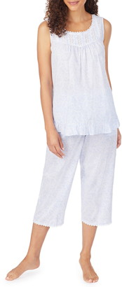 Eileen West Lace Trim Cotton Capri Pajamas